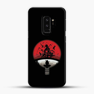 Uchiha Itachi Black Background Samsung Galaxy S9 Plus Case, Black Plastic Case | JoeYellow.com