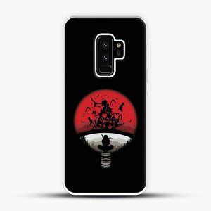 Uchiha Itachi Black Background Samsung Galaxy S9 Plus Case, White Plastic Case | JoeYellow.com