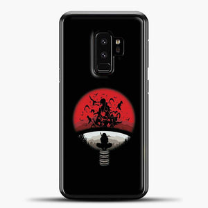 Uchiha Itachi Black Background Samsung Galaxy S9 Plus Case, Black Rubber Case | JoeYellow.com