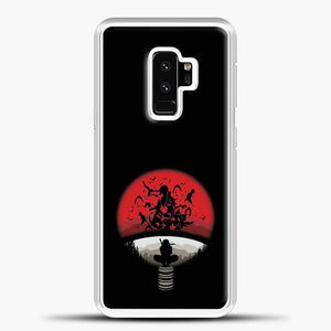 Uchiha Itachi Black Background Samsung Galaxy S9 Plus Case, White Rubber Case | JoeYellow.com