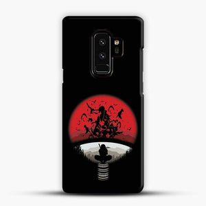 Uchiha Itachi Black Background Samsung Galaxy S9 Plus Case, Black Snap 3D Case | JoeYellow.com