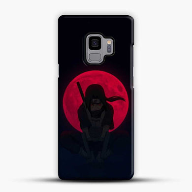 Uchiha Itachi Dark Blue Background Samsung Galaxy S9 Case, Black Snap 3D Case | JoeYellow.com
