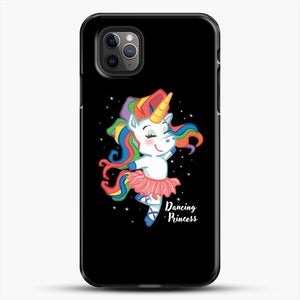 Unicorn Girl Ballet Dancing iPhone 11 Pro Max Case, Black Plastic Case | JoeYellow.com