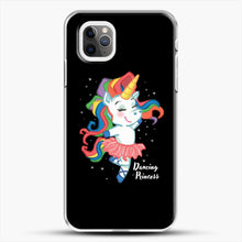 Load image into Gallery viewer, Unicorn Girl Ballet Dancing iPhone 11 Pro Max Case, White Plastic Case | JoeYellow.com