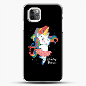 Unicorn Girl Ballet Dancing iPhone 11 Pro Max Case, White Plastic Case | JoeYellow.com
