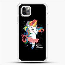 Load image into Gallery viewer, Unicorn Girl Ballet Dancing iPhone 11 Pro Max Case, White Rubber Case | JoeYellow.com