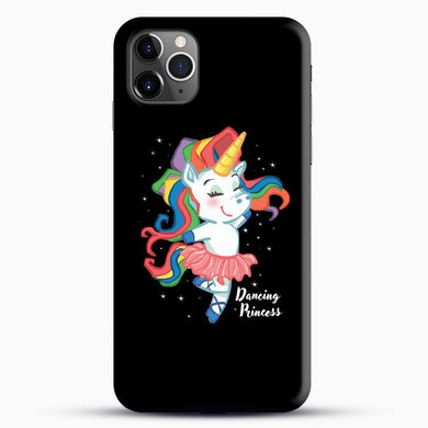 Unicorn Girl Ballet Dancing iPhone 11 Pro Max Case, Black Snap 3D Case | JoeYellow.com