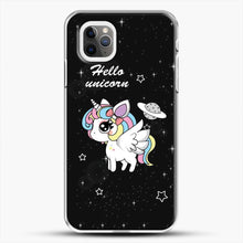 Load image into Gallery viewer, Unicorn Girl Beautiful Stary Pattern iPhone 11 Pro Max Case, White Plastic Case | JoeYellow.com