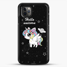 Load image into Gallery viewer, Unicorn Girl Beautiful Stary Pattern iPhone 11 Pro Max Case, Black Rubber Case | JoeYellow.com