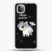 Load image into Gallery viewer, Unicorn Girl Beautiful Stary Pattern iPhone 11 Pro Max Case, White Rubber Case | JoeYellow.com