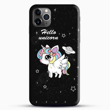 Load image into Gallery viewer, Unicorn Girl Beautiful Stary Pattern iPhone 11 Pro Max Case, Black Snap 3D Case | JoeYellow.com