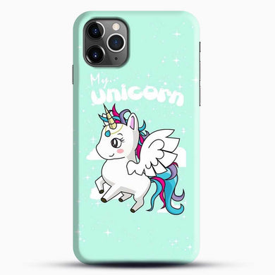 Unicorn Girl Flying iPhone 11 Pro Max Case, Black Snap 3D Case | JoeYellow.com