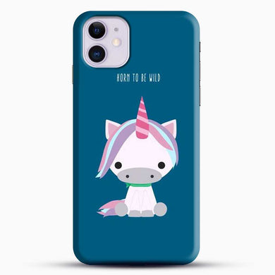 Unicorn Girl Horn To Be Wild iPhone 11 Case, Black Snap 3D Case | JoeYellow.com