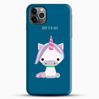 Unicorn Girl Horn To Be Wild iPhone 11 Pro Max Case, Black Snap 3D Case | JoeYellow.com