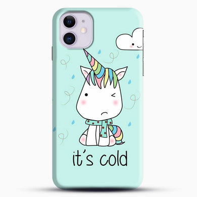 Unicorn Girl Its Cold iPhone 11 Case, Black Snap 3D Case | JoeYellow.com