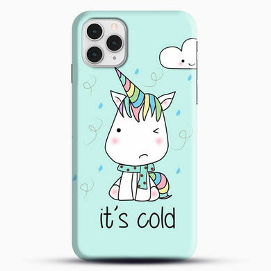 Unicorn Girl Its Cold iPhone 11 Pro Case, Black Snap 3D Case | JoeYellow.com