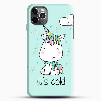 Unicorn Girl Its Cold iPhone 11 Pro Max Case, Black Snap 3D Case | JoeYellow.com