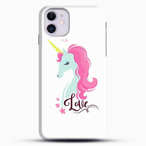 Unicorn Girl Love iPhone 11 Case, Black Snap 3D Case | JoeYellow.com