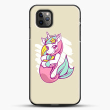 Load image into Gallery viewer, Unicorn Girl Mermaid iPhone 11 Pro Max Case, Black Plastic Case | JoeYellow.com