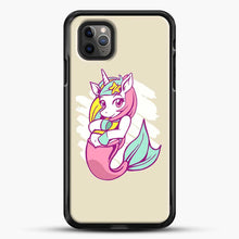 Load image into Gallery viewer, Unicorn Girl Mermaid iPhone 11 Pro Max Case, Black Rubber Case | JoeYellow.com