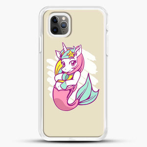 Unicorn Girl Mermaid iPhone 11 Pro Max Case, White Rubber Case | JoeYellow.com