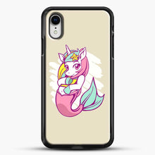 Load image into Gallery viewer, Unicorn Girl Mermaid iPhone XR Case, Black Rubber Case | JoeYellow.com