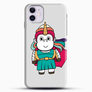 Unicorn Girl Never Perfect iPhone 11 Case, Black Snap 3D Case | JoeYellow.com