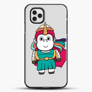 Unicorn Girl Never Perfect iPhone 11 Pro Case, Black Plastic Case | JoeYellow.com