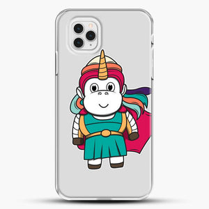 Unicorn Girl Never Perfect iPhone 11 Pro Case, White Plastic Case | JoeYellow.com