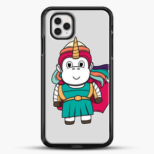Unicorn Girl Never Perfect iPhone 11 Pro Case, Black Rubber Case | JoeYellow.com