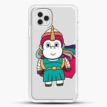 Load image into Gallery viewer, Unicorn Girl Never Perfect iPhone 11 Pro Case, White Rubber Case | JoeYellow.com