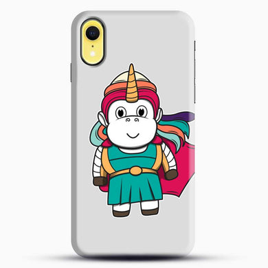 Unicorn Girl Never Perfect iPhone XR Case, Black Snap 3D Case | JoeYellow.com