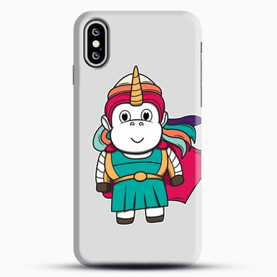 Unicorn Girl Never Perfect iPhone XS Case, Black Snap 3D Case | JoeYellow.com