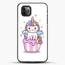 Load image into Gallery viewer, Unicorn Girl On Cupcake iPhone 11 Pro Max Case, Black Plastic Case | JoeYellow.com