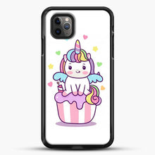 Load image into Gallery viewer, Unicorn Girl On Cupcake iPhone 11 Pro Max Case, Black Rubber Case | JoeYellow.com