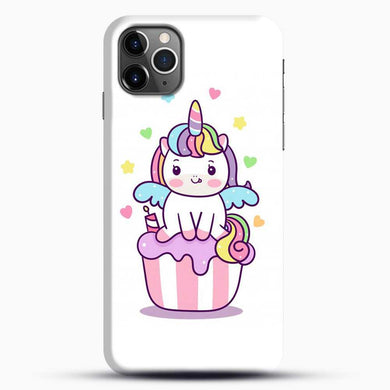Unicorn Girl On Cupcake iPhone 11 Pro Max Case, Black Snap 3D Case | JoeYellow.com