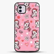 Load image into Gallery viewer, Unicorn Girl Pink Flower Pattern iPhone 11 Case, Black Plastic Case | JoeYellow.com