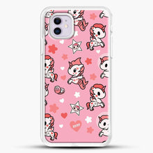 Load image into Gallery viewer, Unicorn Girl Pink Flower Pattern iPhone 11 Case, White Rubber Case | JoeYellow.com