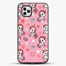 Load image into Gallery viewer, Unicorn Girl Pink Flower Pattern iPhone 11 Pro Case, Black Plastic Case | JoeYellow.com