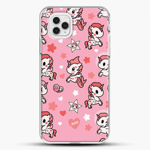 Load image into Gallery viewer, Unicorn Girl Pink Flower Pattern iPhone 11 Pro Case, White Plastic Case | JoeYellow.com