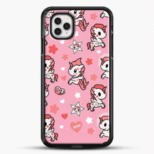 Load image into Gallery viewer, Unicorn Girl Pink Flower Pattern iPhone 11 Pro Case, Black Rubber Case | JoeYellow.com