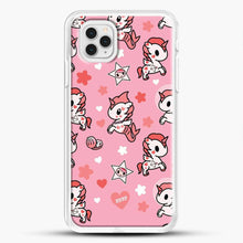 Load image into Gallery viewer, Unicorn Girl Pink Flower Pattern iPhone 11 Pro Case, White Rubber Case | JoeYellow.com