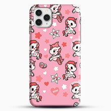 Load image into Gallery viewer, Unicorn Girl Pink Flower Pattern iPhone 11 Pro Case, Black Snap 3D Case | JoeYellow.com
