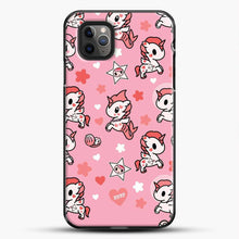 Load image into Gallery viewer, Unicorn Girl Pink Flower Pattern iPhone 11 Pro Max Case, Black Plastic Case | JoeYellow.com
