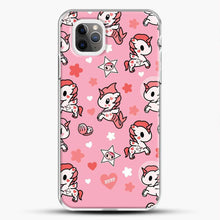 Load image into Gallery viewer, Unicorn Girl Pink Flower Pattern iPhone 11 Pro Max Case, White Plastic Case | JoeYellow.com