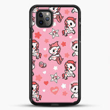 Load image into Gallery viewer, Unicorn Girl Pink Flower Pattern iPhone 11 Pro Max Case, Black Rubber Case | JoeYellow.com