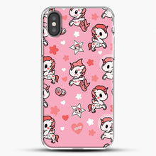 Load image into Gallery viewer, Unicorn Girl Pink Flower Pattern iPhone X Case, White Plastic Case | JoeYellow.com