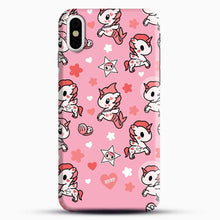Load image into Gallery viewer, Unicorn Girl Pink Flower Pattern iPhone X Case, Black Snap 3D Case | JoeYellow.com