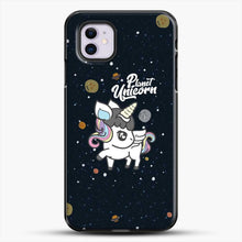 Load image into Gallery viewer, Unicorn Girl Planet iPhone 11 Case, Black Plastic Case | JoeYellow.com