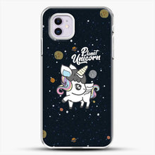 Load image into Gallery viewer, Unicorn Girl Planet iPhone 11 Case, White Plastic Case | JoeYellow.com